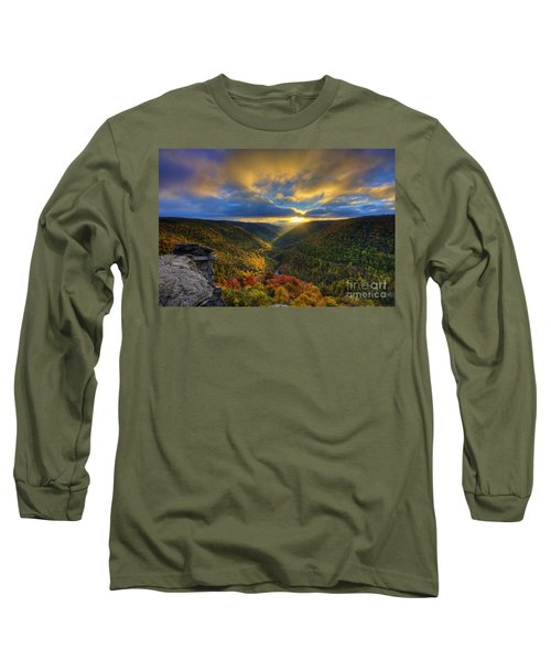 A Blue And Gold Sunset Long Sleeve T-Shirt