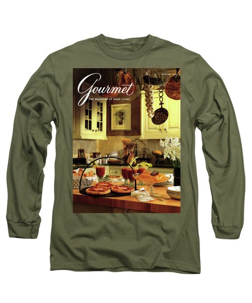 A Buffet Brunch Party Long Sleeve T-Shirt by Romulo Yanes