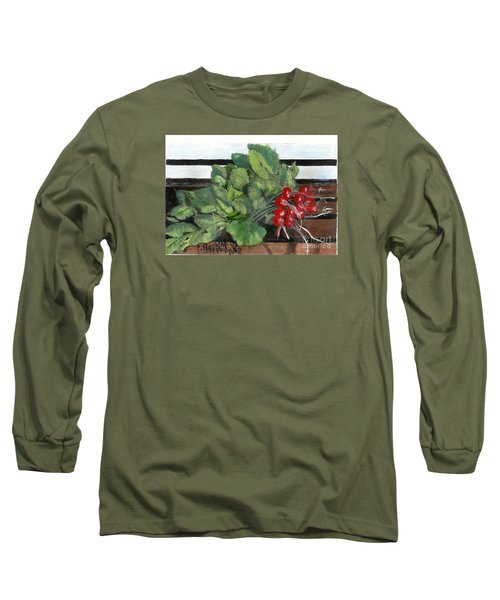 A Bunch Of Radishes  Long Sleeve T-Shirt by Francine Heykoop