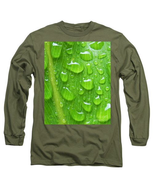 Long Sleeve T-Shirt featuring the photograph A Cleansing Morning Rain by Robert ONeil