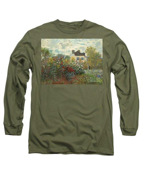 A Corner Of The Garden With Dahlias Long Sleeve T-Shirt