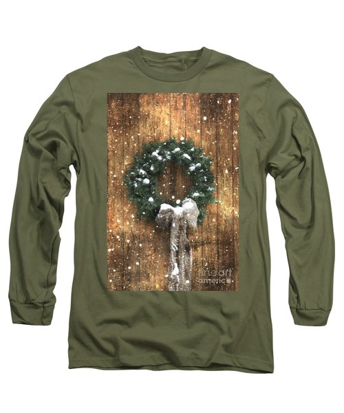 A Country Christmas Long Sleeve T-Shirt by Benanne Stiens
