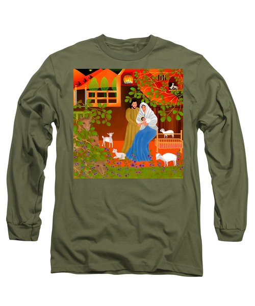 Long Sleeve T-Shirt featuring the digital art A Cradle In Bethlehem by Latha Gokuldas Panicker