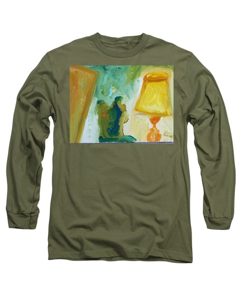 A Door A Chair And A Yellow Lamp Long Sleeve T-Shirt