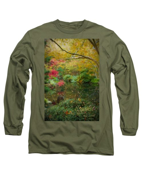 A Fall Afternoon With Message Long Sleeve T-Shirt