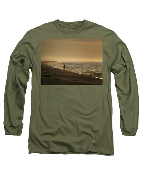 Long Sleeve T-Shirt featuring the photograph A Fisherman's Morning by GJ Blackman