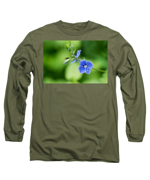 A Flower And A Fly - Featured 3 Long Sleeve T-Shirt by Alexander Senin