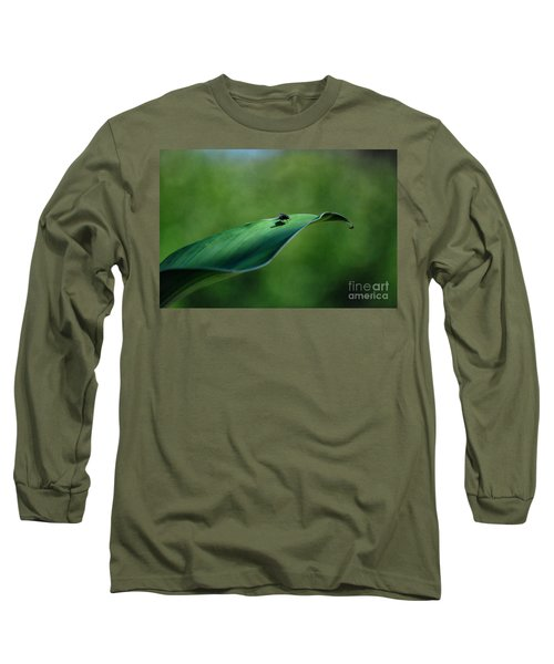 Long Sleeve T-Shirt featuring the photograph A Fly And His Shadow by Thomas Woolworth