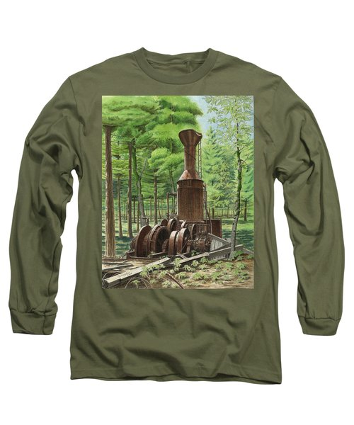A Ghost In The Forest Long Sleeve T-Shirt