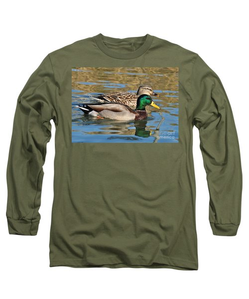 Long Sleeve T-Shirt featuring the photograph A Handsome Pair by Kathy Baccari