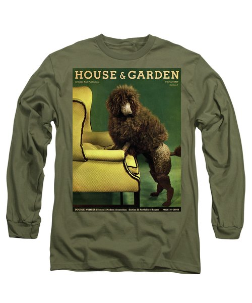 A House And Garden Cover Of A Poodle Long Sleeve T-Shirt