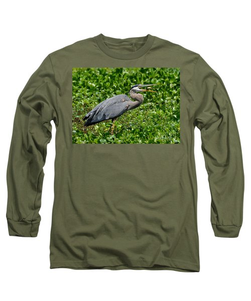 Long Sleeve T-Shirt featuring the photograph A Little Snack by Kathy Baccari