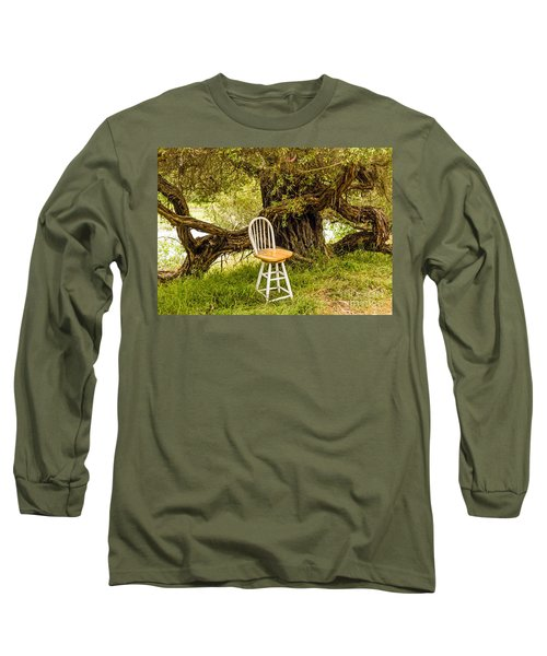 A Little Solitude Long Sleeve T-Shirt by Kate Brown