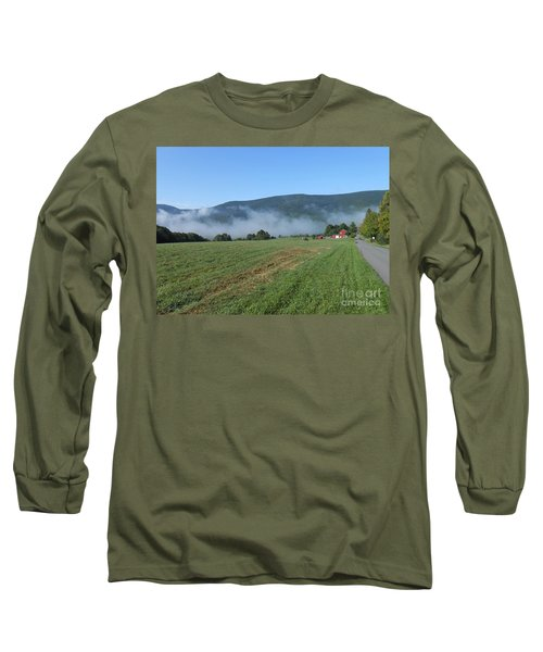 A Morning Ride On Our Paso Fino Stallions Long Sleeve T-Shirt by Patricia Keller