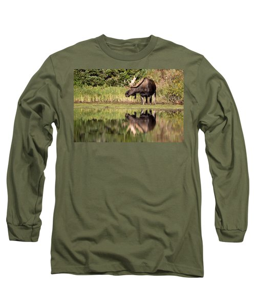 A Reflective Mood Long Sleeve T-Shirt by Jack Bell
