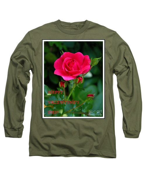 A Rose For Valentine's Day Long Sleeve T-Shirt by Mariarosa Rockefeller