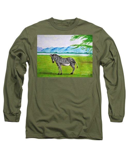 A Striped Chap Long Sleeve T-Shirt