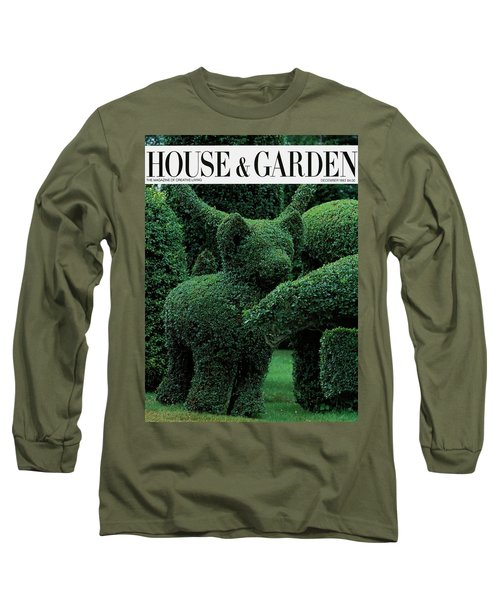 A Topiary Bear In Alice Braytons Green Animals Long Sleeve T-Shirt