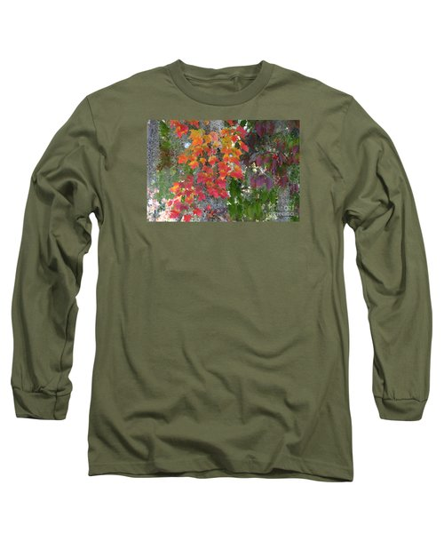 Long Sleeve T-Shirt featuring the digital art A Touch Of Autumn by Mariarosa Rockefeller