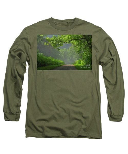 A Touch Of Green II Long Sleeve T-Shirt by Douglas Stucky