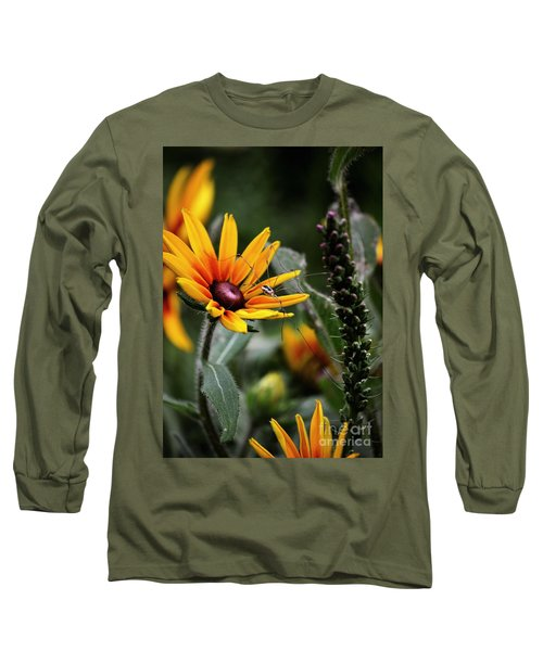 A Walk In The Garden Long Sleeve T-Shirt by Sue Stefanowicz