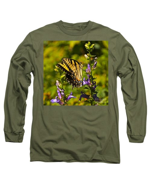 A Warm September Day In The Garden Long Sleeve T-Shirt by Byron Varvarigos