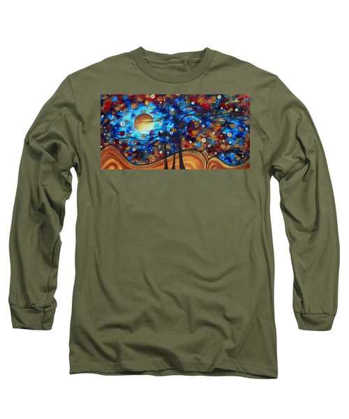 Abstract Art Original Landscape Painting Bold Circle Of Life Design Show Me The Way By Madart Long Sleeve T-Shirt