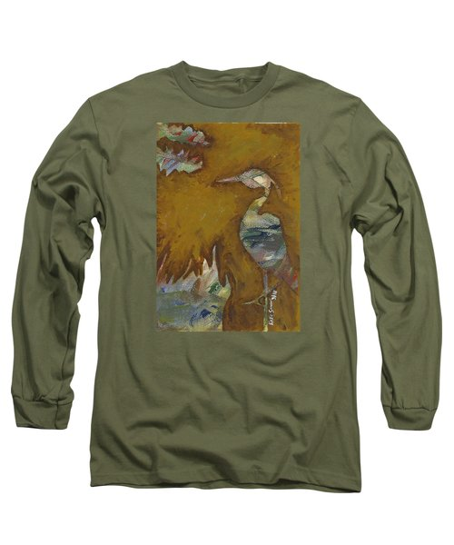 Abstract Heron Long Sleeve T-Shirt