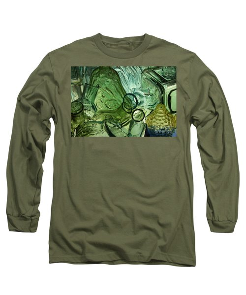 Abstract In Green Long Sleeve T-Shirt