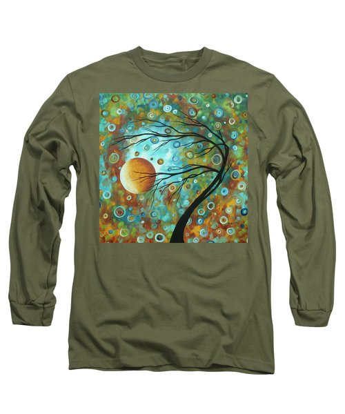 Abstract Landscape Circles Art Colorful Oversized Original Painting Pin Wheels In The Sky By Madart Long Sleeve T-Shirt