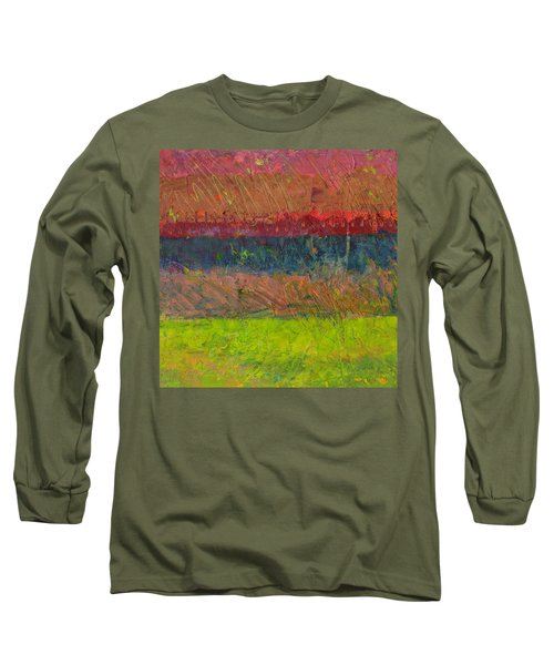 Abstract Landscape Series - Lake And Hills Long Sleeve T-Shirt