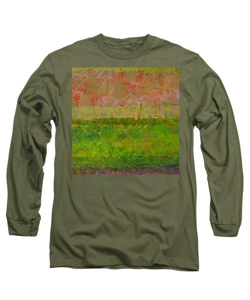 Abstract Landscape Series - Summer Fields Long Sleeve T-Shirt