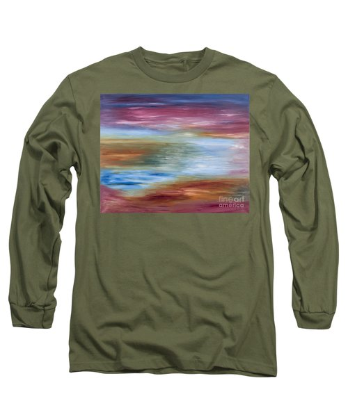 Abstract Seascape Long Sleeve T-Shirt by Lana Enderle