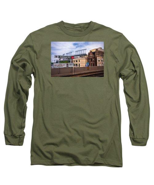Addison Street Station Long Sleeve T-Shirt by Tom Gort
