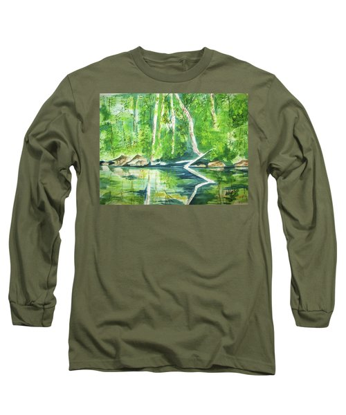 Adirondack Zen Long Sleeve T-Shirt by Ellen Levinson