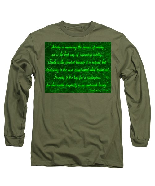 Aesthetic Quote 1 Long Sleeve T-Shirt