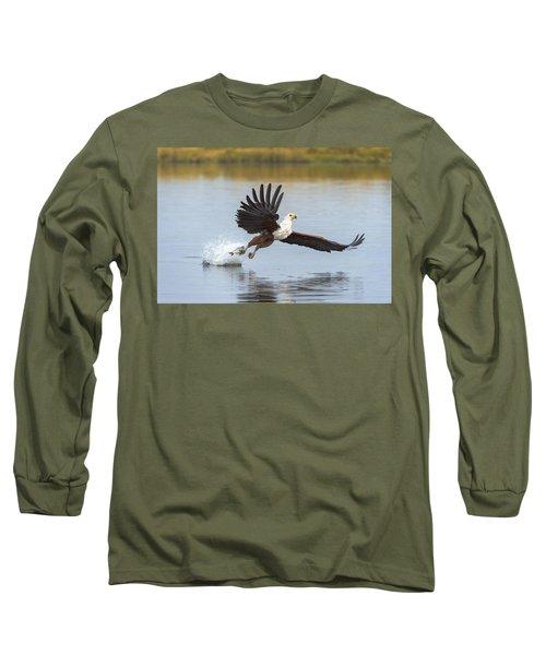 African Fish Eagle Fishing Chobe River Long Sleeve T-Shirt