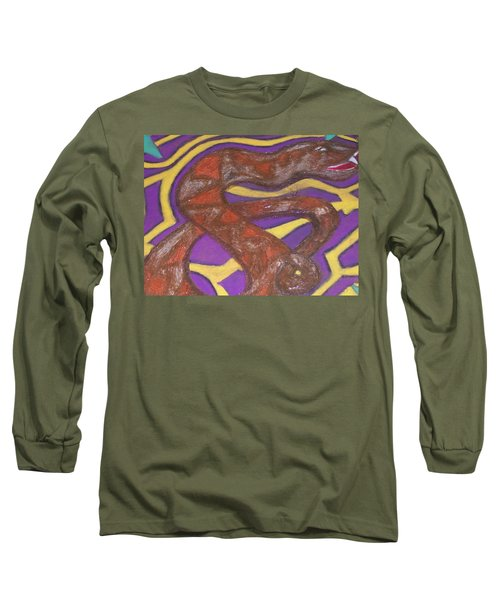 Long Sleeve T-Shirt featuring the painting African Snake Diety by Jonathon Hansen