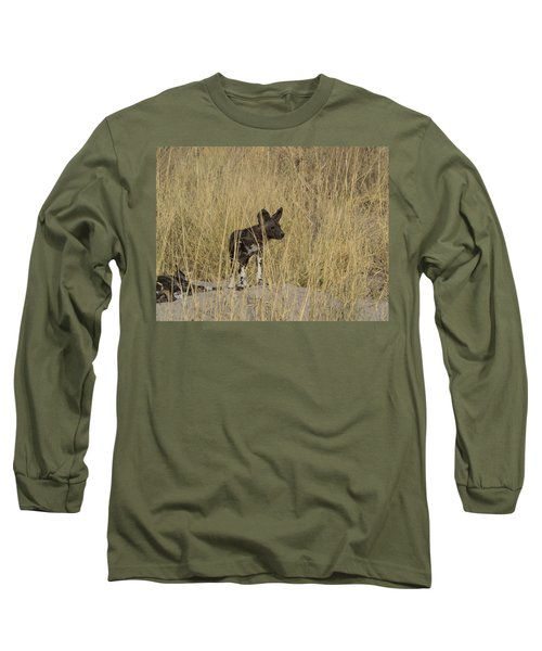 African Wild Dog Lycaon Pictus Puppy Long Sleeve T-Shirt