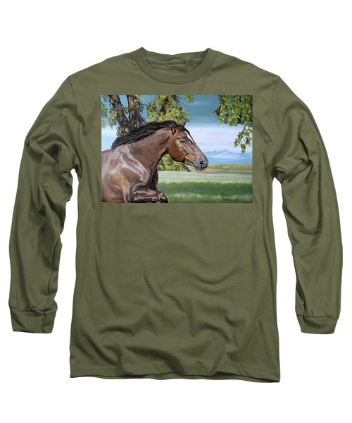 Long Sleeve T-Shirt featuring the painting After The Storm by Leena Pekkalainen