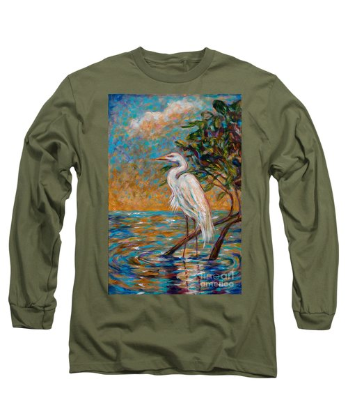 Afternoon Egret Long Sleeve T-Shirt