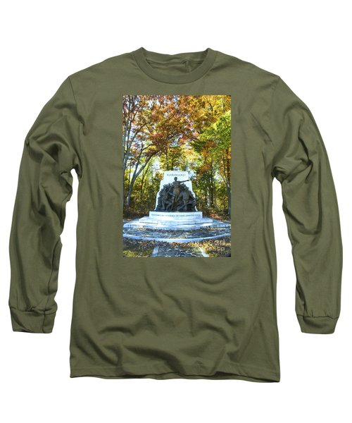 Alabama Monument At Gettysburg Long Sleeve T-Shirt by Paul W Faust -  Impressions of Light