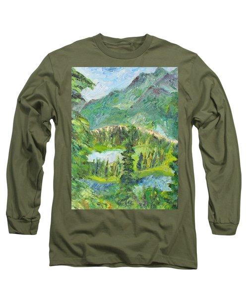 Alaska  Mountain Range Long Sleeve T-Shirt