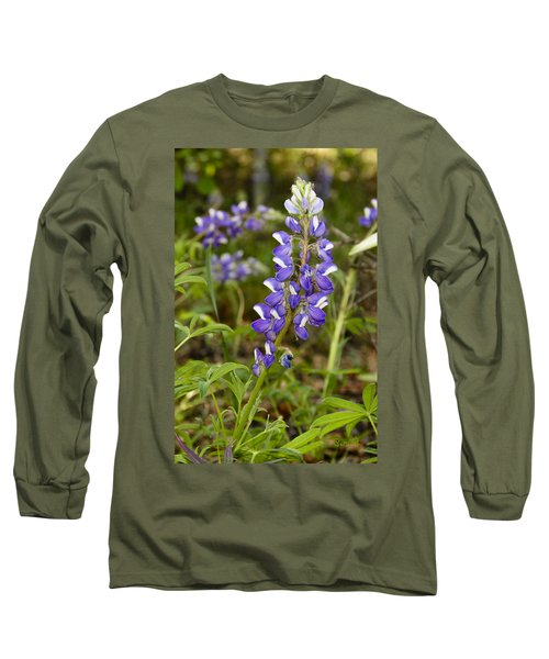 Alaskan Lupine In Denali Park Long Sleeve T-Shirt
