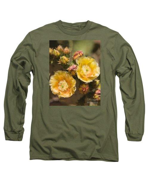 'albispina' Cactus Blooms Long Sleeve T-Shirt