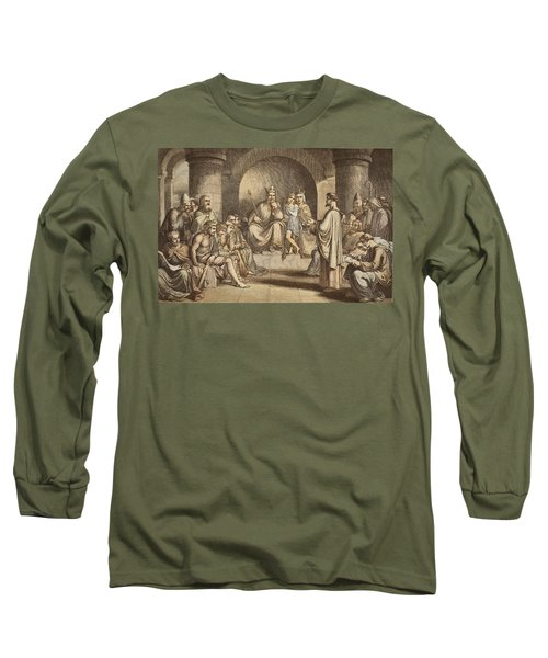 Alfred The Great Submitting His Laws Long Sleeve T-Shirt