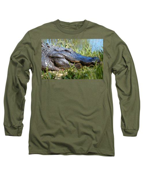Alligator Smiling Long Sleeve T-Shirt