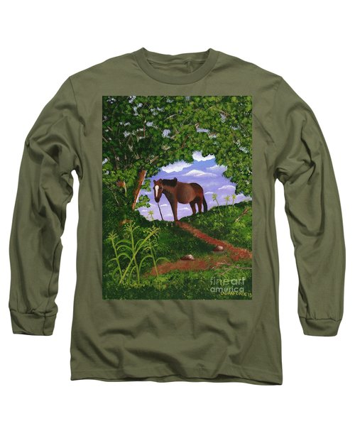 All Alone Long Sleeve T-Shirt by Laura Forde