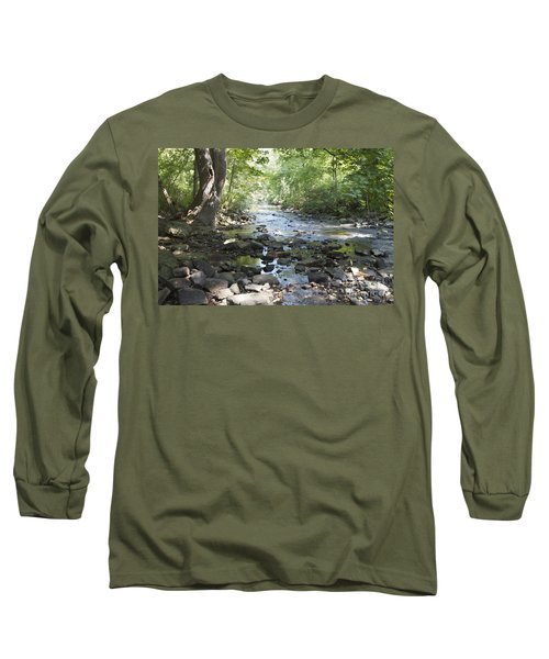Long Sleeve T-Shirt featuring the photograph Allen Creek by William Norton