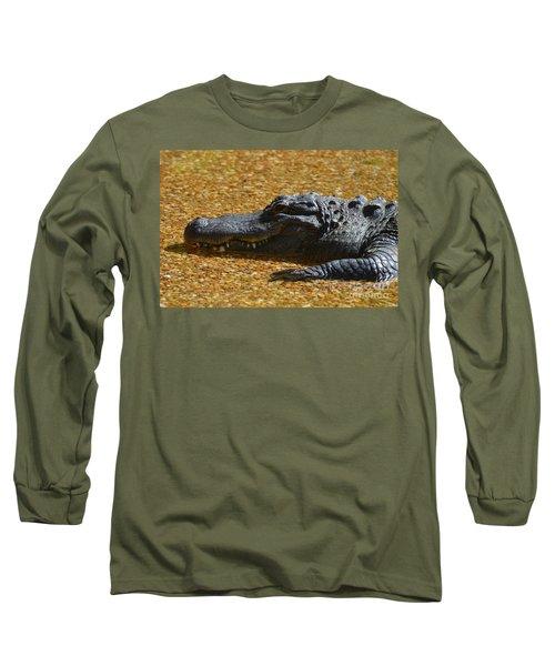 Alligator Long Sleeve T-Shirt by DejaVu Designs